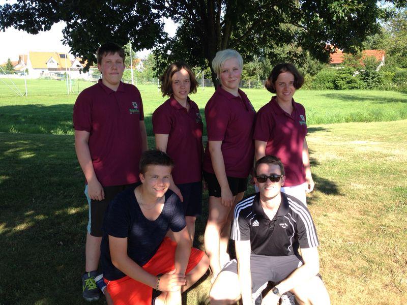 Team Altschützen (v.li.): Michael, Martin, Constance, Theresa, Wolfgang, Nicole, Robert (nicht im Bild, da Fotograf)