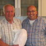 Gewinner Josef Lehrhuber mit 1. Schützenmeister Robert Pitz
