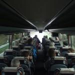 Morgens im bequemen Reisebus auf dem Weg nach Hohenthann.