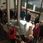 Im Sudhaus: zu Beginn der Führung gab es jede Menge Wissenswertes über die Bierherstellung und die Schloßbrauerei Hohenthann zu erfahren.
