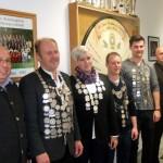 Gruppenbild mit den Gaukönigen 2014 im Schützenheim der Altschützen Velden