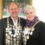 Die Gaukönige 2014 kommen von den Altschützen Velden - Georg Unterreithmeier und Theresa Aigner.