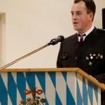 1. Schützenmeister (Kellerbergschützen Eberspoint) Bastian Zankl bei der Ansprache