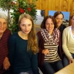 Bei der Preisverleihung des 18. Gau-Damen-Gaudischießens, (v.l.): Rosemarie, Lisa, Nicole, Constance und Ruth
