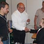 Die stolze Gewinnerin Marlene in der Vereinsmeisterschaft Schülerklasse 2.