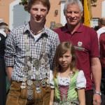 Jugendschützenkönig 2015, Lukas Maier, mit Papa Reiner und Schwester Laura
