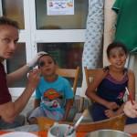 Erstmalig zum Sommerfest im Angebot: Das Kinderschminken.