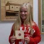Marlene, Gewinnerin des Markerls auf der Anfangsscheibe für die Saison 2015/16
