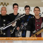 (v.l.): R.Pitz, M.Schwarz, M.Nitzl jun., S.Reisenwedel (in der Gauoberliga)
