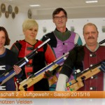 (v.l.): C.Maier, T.Aigner, E.Riedi, M. Nitzl sen. (in der Gauliga 2)