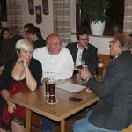 Altschützen bei der Königsproklamation in Seyboldsdorf.