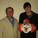 Strohschießen - 1.SM Oswald Seidl jun. mit Andreas Strobl, dem Gewinner der Strohscheibe Jugend
