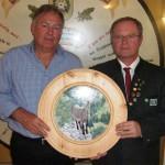 Jubilar Siegfried Hinterberger stiftete anlässlich seines 60jähirgen Geburtstag eine Scheibe - Gewinner 1.SM Oswald Seidl jun.