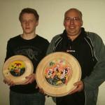 Strohschießen - Gewinner der Strohscheiben - Philipp Seybold und Robert Pitz