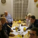 Altschützen im Gasthaus Maier (Wurmsham) zur Preisverleihung.