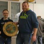 Gaudischeibe der Erwachsenen - Gewinner Florian (r.) mit Jugendtrainer Andreas.