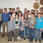 Preisträger der Jugend mit 1.SM Robert und den beiden Jugendleitern Sebastian und Andreas