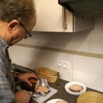 Beim Wirt gibt es Leberkas in diversen Geschmacksrichtungen - alle lecker, mmmh!