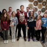 L.Schwarz (Jugendkönig), L.Maier (Wanderpokal) mit weiteren Preisträgern der Jugend und M.Schwarz (li. - 2.SchM / Jugendtrainer), A.Wolsky (re. - Jugendtrainer)