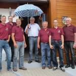 Die Altschützen waren beim ehemaligen Bürgermeister und amtierenden Kreisrat Gerhard Babl zum Schirmherrenbitten für ihr Gründungsfest anlässlich des 150-jährigen Vereinsbestehens.