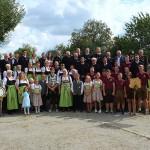 Gruppenbild der Altschützengesellschaft Velden/Vils am Festsonntag.