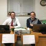 W.Riedi jun und A.Wolsky bei der Auswertung