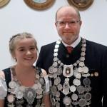 Tochter und Vater: M.Seidl - Jugendkönigin und O.Seidl jun. - Gaukönig Luftgewehr (beide Altschützen Velden)
