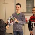 Sieger Strohscheibe Jugend - M.Waitl mit den Jugendleitern Ch.Kreisel-Ianucci (li.) und A.Wolsky (re.).